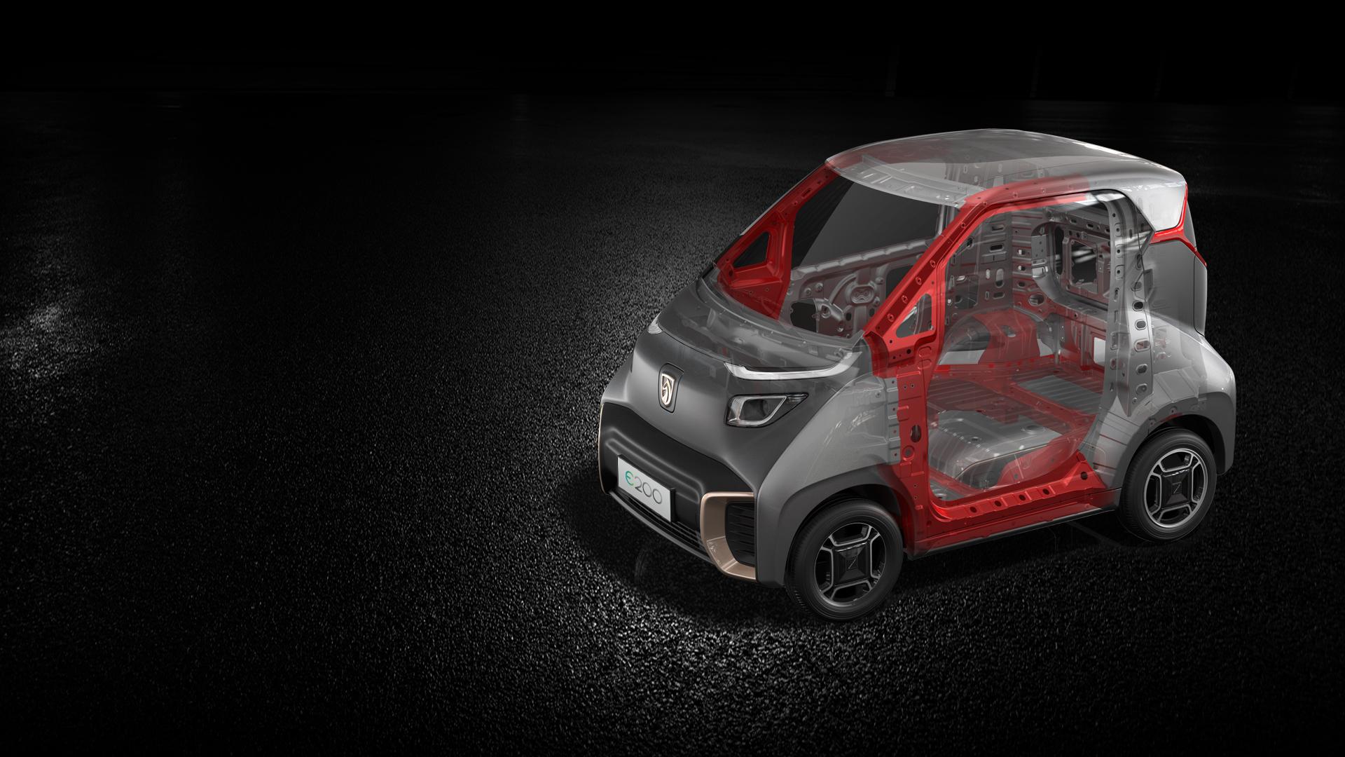 寶駿E200,電(dian)動汽(qi)車,新(xin)能源(yuan)車,車身,充電(dian),品質,安全(quan)